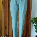 Пастельно-Мятные укороченные джинсы с высокой посадкой размер l-12