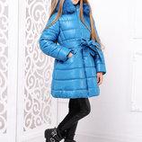 Куртка зимняя для девочки Тринити волна