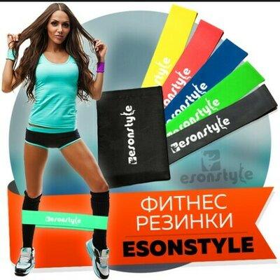 Набір фітнес гумок стрічок-еспандер Набор фитнес резинок лент-эспандер В комлекте 5 штук мешочек