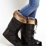 Новые Moon boots мунбуты снегоходы снегоступы Barts с мехом