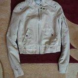 куртка бомбер замшевая Bershka