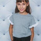 Блуза школьная трикотажная меланж 122-152