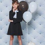 Платье школьное черное 122-152