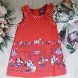 Классное платье с минни маус 1-1,5 года Disney