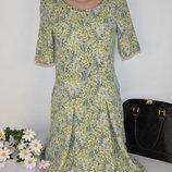 Брендовое нарядное миди платье с карманами next камбоджа принт цветы этикетка