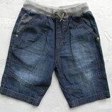 джинсовые шорты George на 5-6-7 лет.