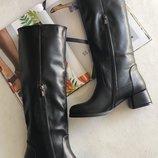 Шикарные высокие кожаные сапоги от производителя 36-40р Новая коллекция