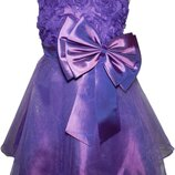 Фиолетовое платье Бант для девочки