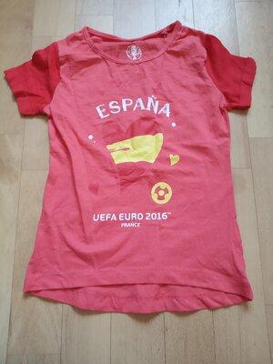 -Новая футболка для девочки, Германия, хлопок, р.110/116,122/128