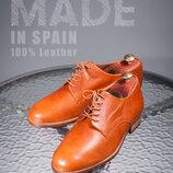 Дерби ручной работы, Испания 42р кожаные туфли мужские