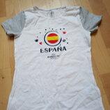 -Новая футболка, Германия, хлопок, р.134/140, Euro 2016