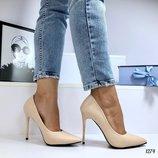 Женские туфли лодочки, бежевые, белые, синие