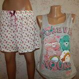 пижама скомбинированная трикотажная майка с шортиками р12-14