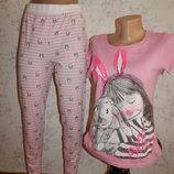 пижама скомбинированная трикотажная футболка со штанишками р8-10