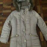 Тёплая демисезонная куртка на меху на 9-10 лет