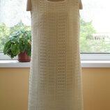 платье с коротким рукавом летнее белое ажурное