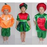 Костюмы-Апельсин, огурец, перец, чеснок, лук, арбуз, лимон