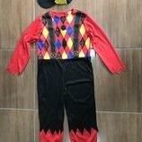 Клоун злой джокер 7-8 лет костюм Хэллоуин