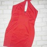 Шикарное платье , морковного цвета