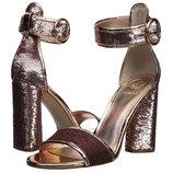 феерические кожаные босоножки на каблуке Guess размер 40-41 US 10