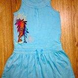 Голубое платье на рост 122-134