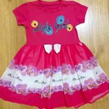 Розовое платье на рост 104-116