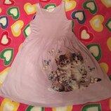 Платье Котики на 8-10лет