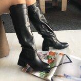 Шикарные кожаные зимние сапоги от Ans 36-40р Новая коллекция