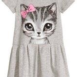 Платье для девочки с кошечкой