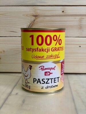Паштет куриный pamapol pasztet 390грамм, Польша