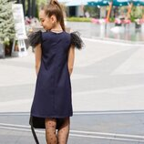платье Ткань креп костюмка,фатин с флоком