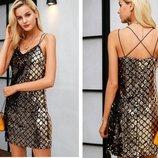 Платье паетки на подкладке 42-46 размеры