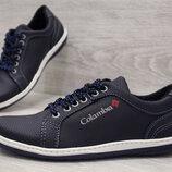 Туфли мужские спортивные кроссовки синего цвета Клс-7с