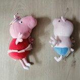 Мягкие игрушки пеппа и джордж peppa pig