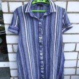 Платье рубашка Zara M-L