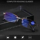 Очки плюс --1.0, 2, 2,5, 3, 1,5 PD-62-64 для чтения интернет страниц защитным напылением диоптрия