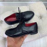 Туфли на шнуровке, натуральная кожа и замш, есть 3 расцветки, 36-41