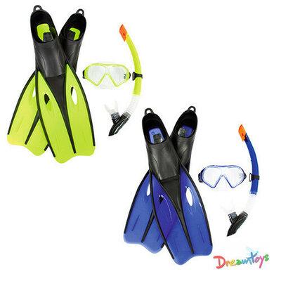 Набор для плавания маска, трубка, ласты, ласты 38-39 , 2 цвета, Bestway, 25021