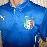 Спортивная оригинальная футбольная футболка зб Италии .Puma . xs-s