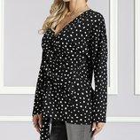 Блуза женская, длинный рукав, на высокий рост, Suzanne Betro р.S