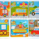 Много Супер деревянные пазлы машинки в ассортименте,деревянные игрушки,пазлы деревянные