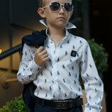 Школьная рубашка для мальчика стильная белая рубашка рост 116-152 см
