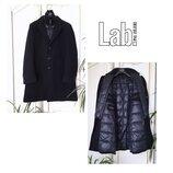 Lab Pal Zileri Пальто зима шерсть кашемир гусиный пух высокий ворот люкс 54-56 оригинал синее