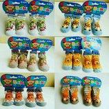 Носочки носки яркие для новорожденных малышей бебиков 0-6м и 6-12м Франция