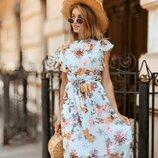 Красивое легкое платье 42 - 44 две расцветки