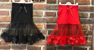 Стильні юбки Little Star червона і чорна для дівчат підлітків в наявності