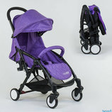 Прогулочная коляска складная аналог Yoya JOY W 2277, фиолетовая