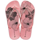 женские вьетнамки шлёпки Ipanema Copacabana, маки розовые