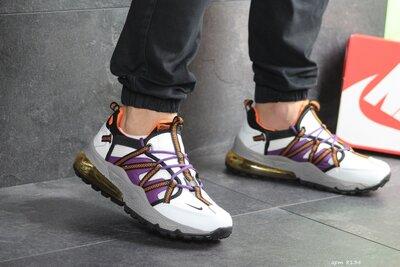 Nike кроссовки мужские демисезонные белые с фиолетовым 8134