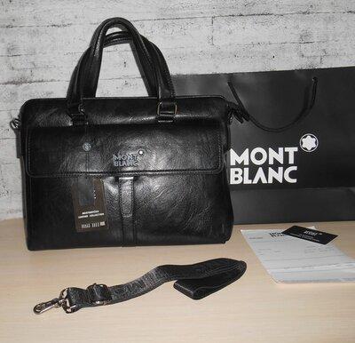 Сумка мужская, портфель Mont Blanc, кожа, Италия 8817